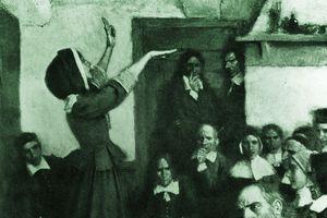 Anne Hutchinson preaching