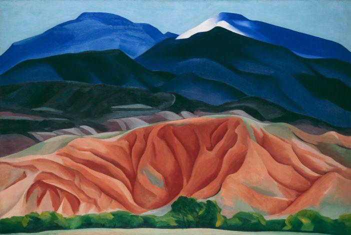 Obra 'Black Mesa Landscape, New Mexico / Out Back of Marie's II' realizada por Georgia O'Keeffe en 1930