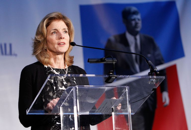 Caroline Kennedy standing at podium.