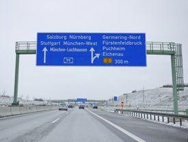 German Autobahn Trafficsign