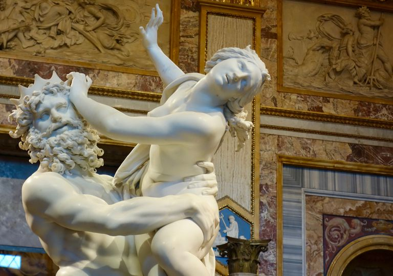 The Rape of Proserpina by Bernini, Galleria Borghese Rome, Italy