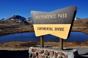 A Colorado sign marks the Continental Divide