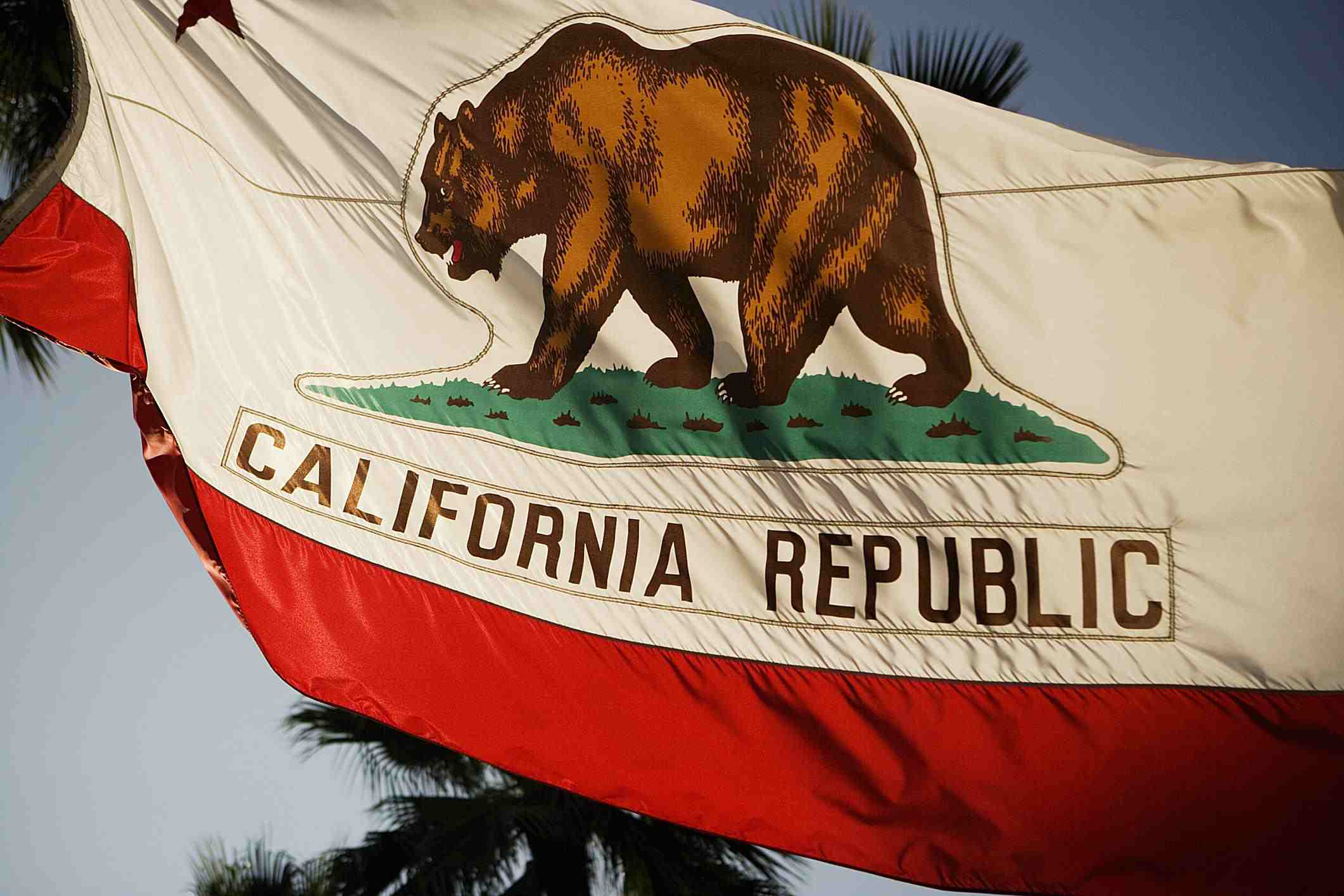 California flag - Glowimages - GettyImages-56134888