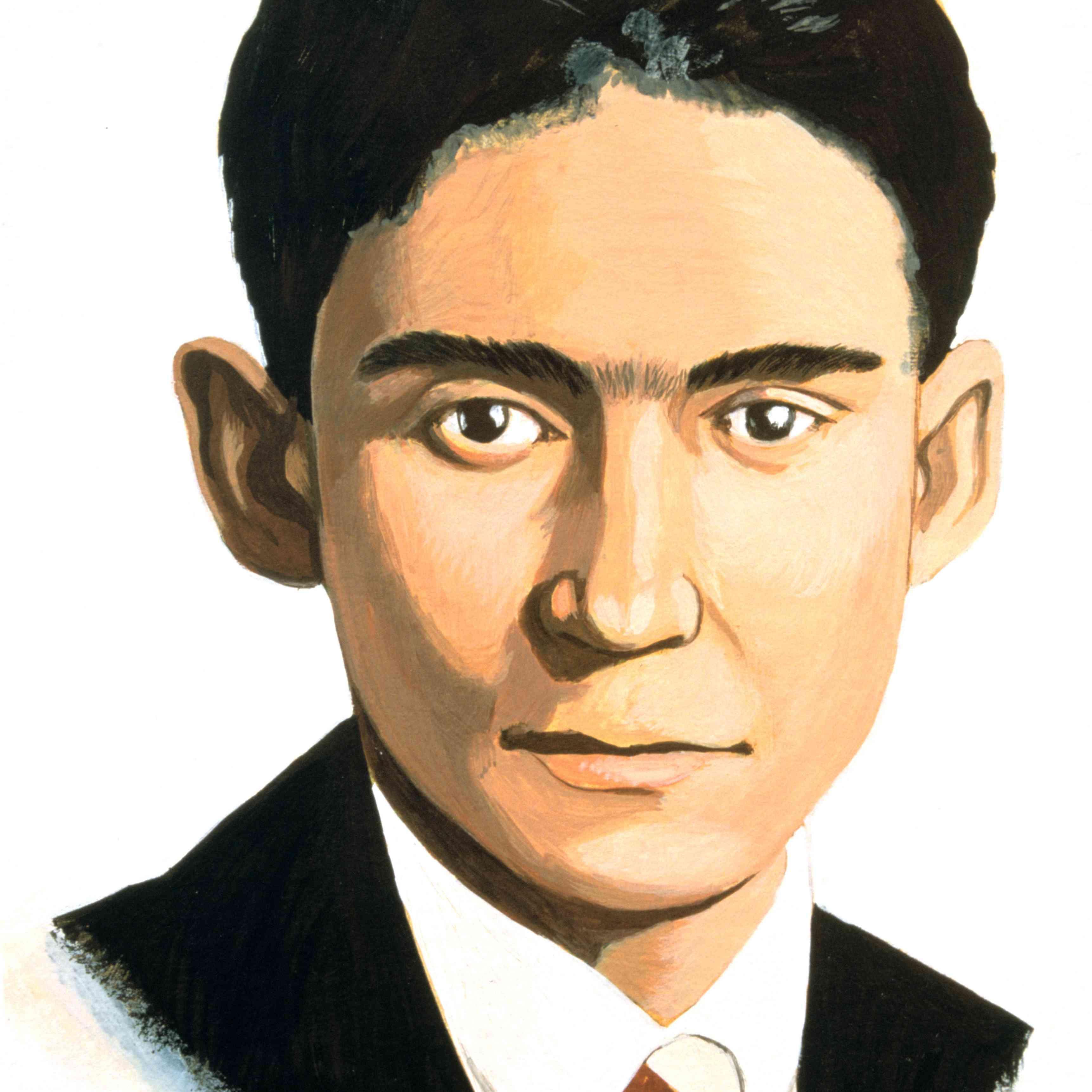 Franz Kafka, Czech novelist, early 20th century.
