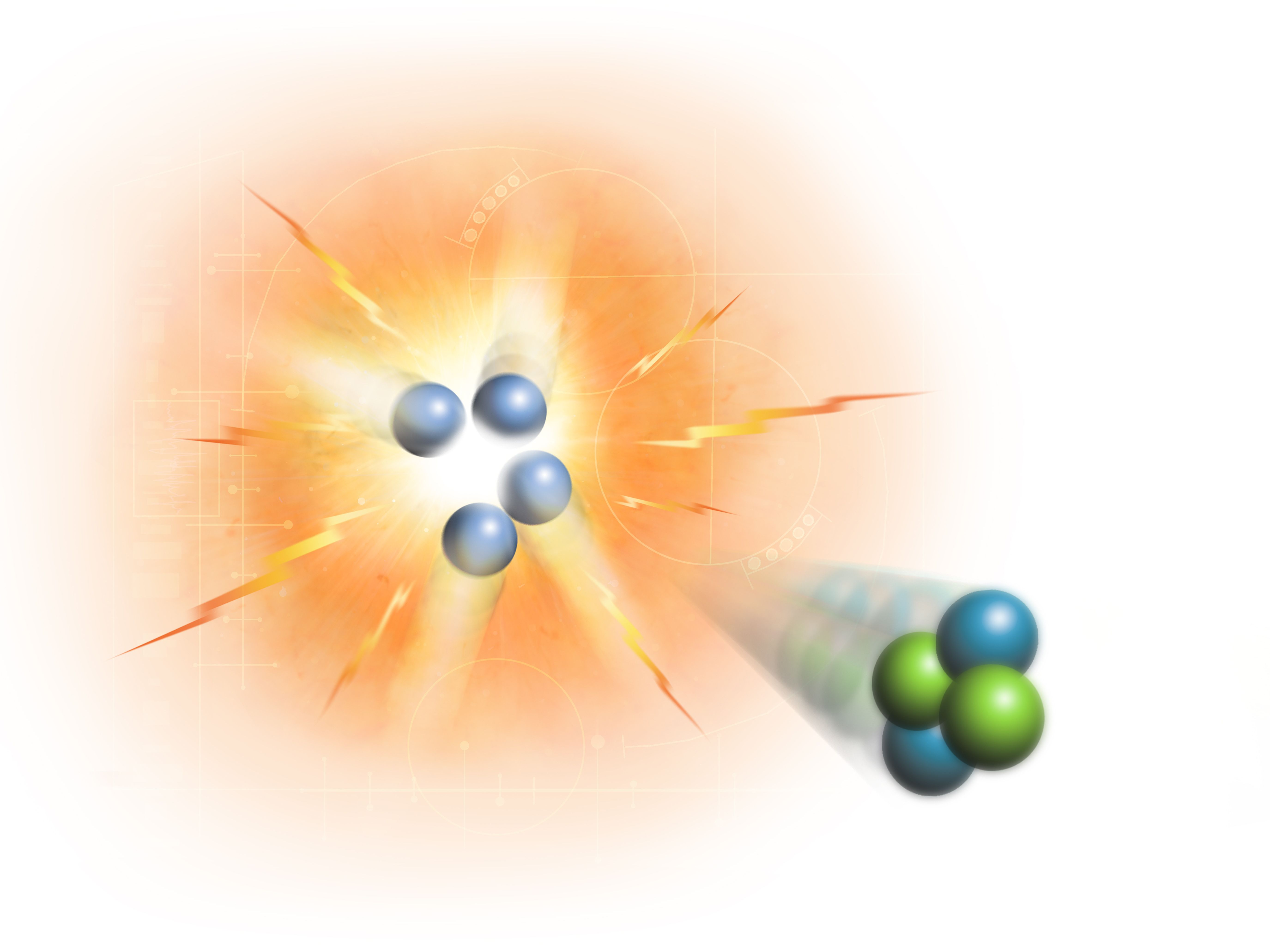 Nuclear fission and nuclear fusion.