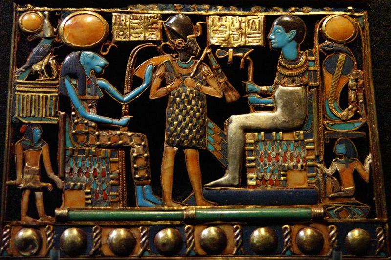 Exquisite Pectoral from the Tutankhamun Exhibition in London