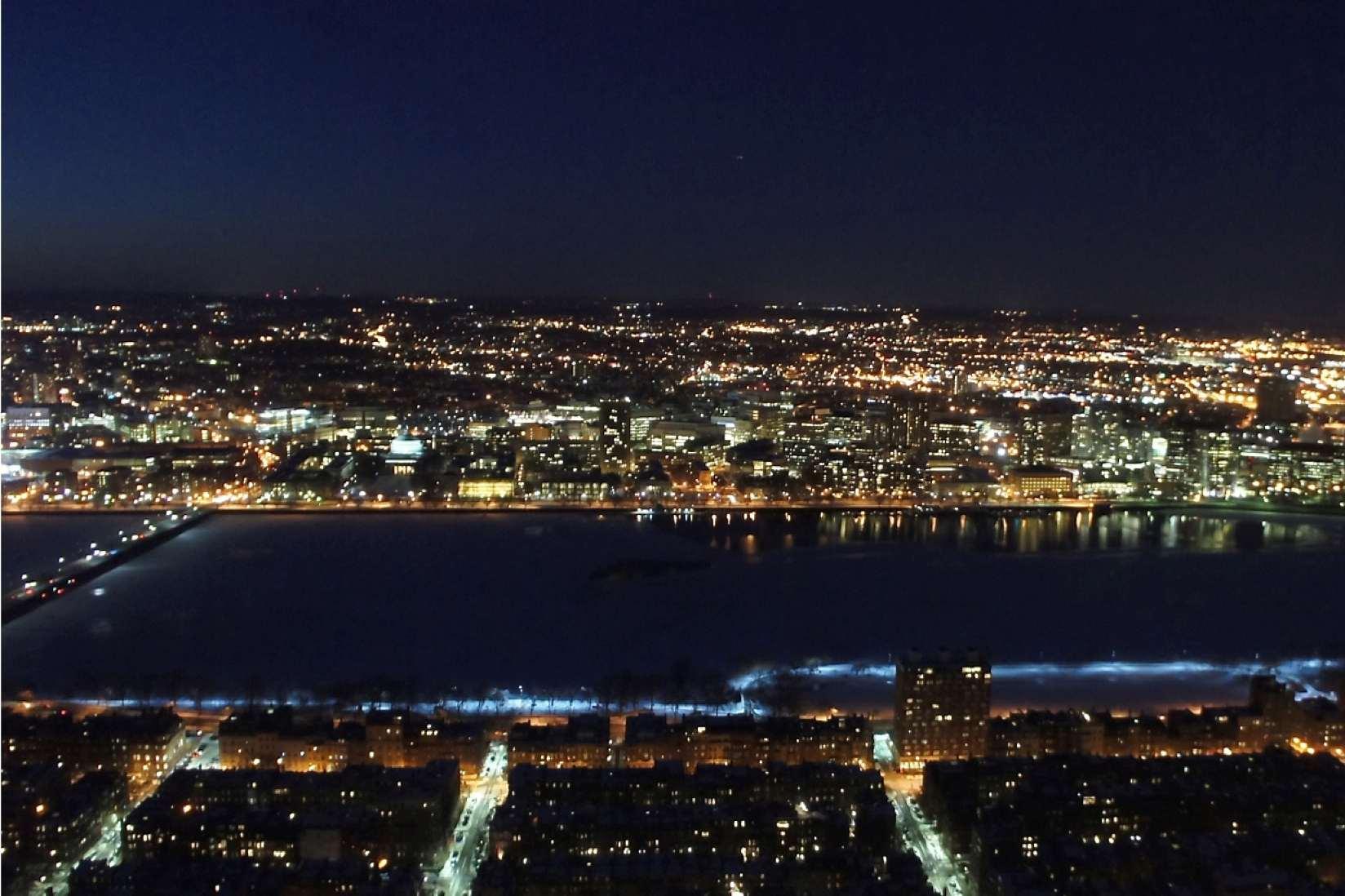 Cambridge, Massachusetts at Night