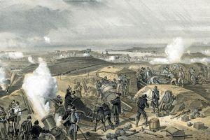 artist rendering of Siege of Sebastapol