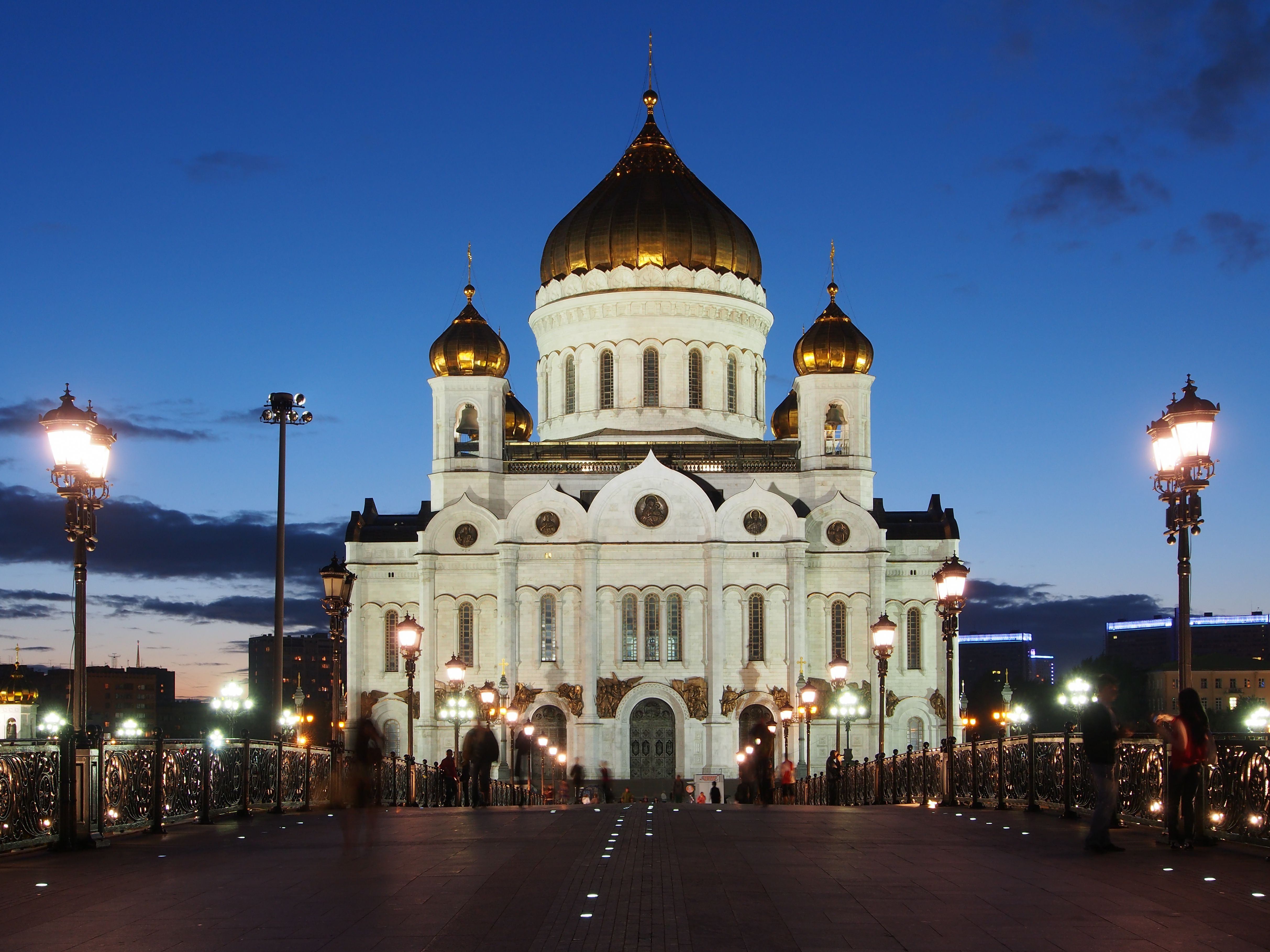 Reconstructed multi-domed Cathedral of Christ the Saviour, Moscow