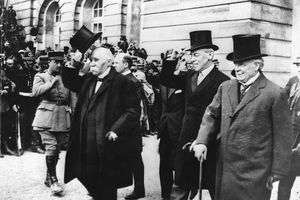 World Political Leaders after Signing Treaty of Versailles