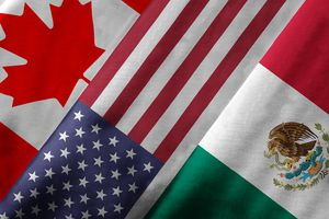 canadian, american and mexican flags