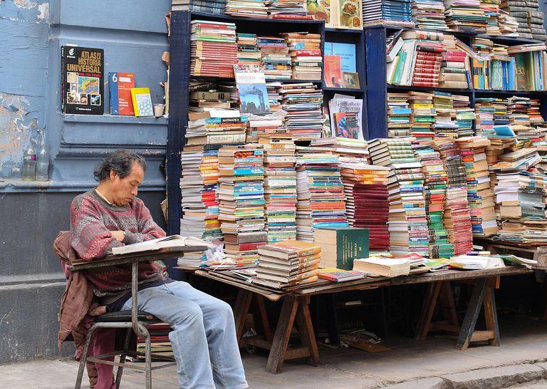 Books for sale in Lima, Peru.