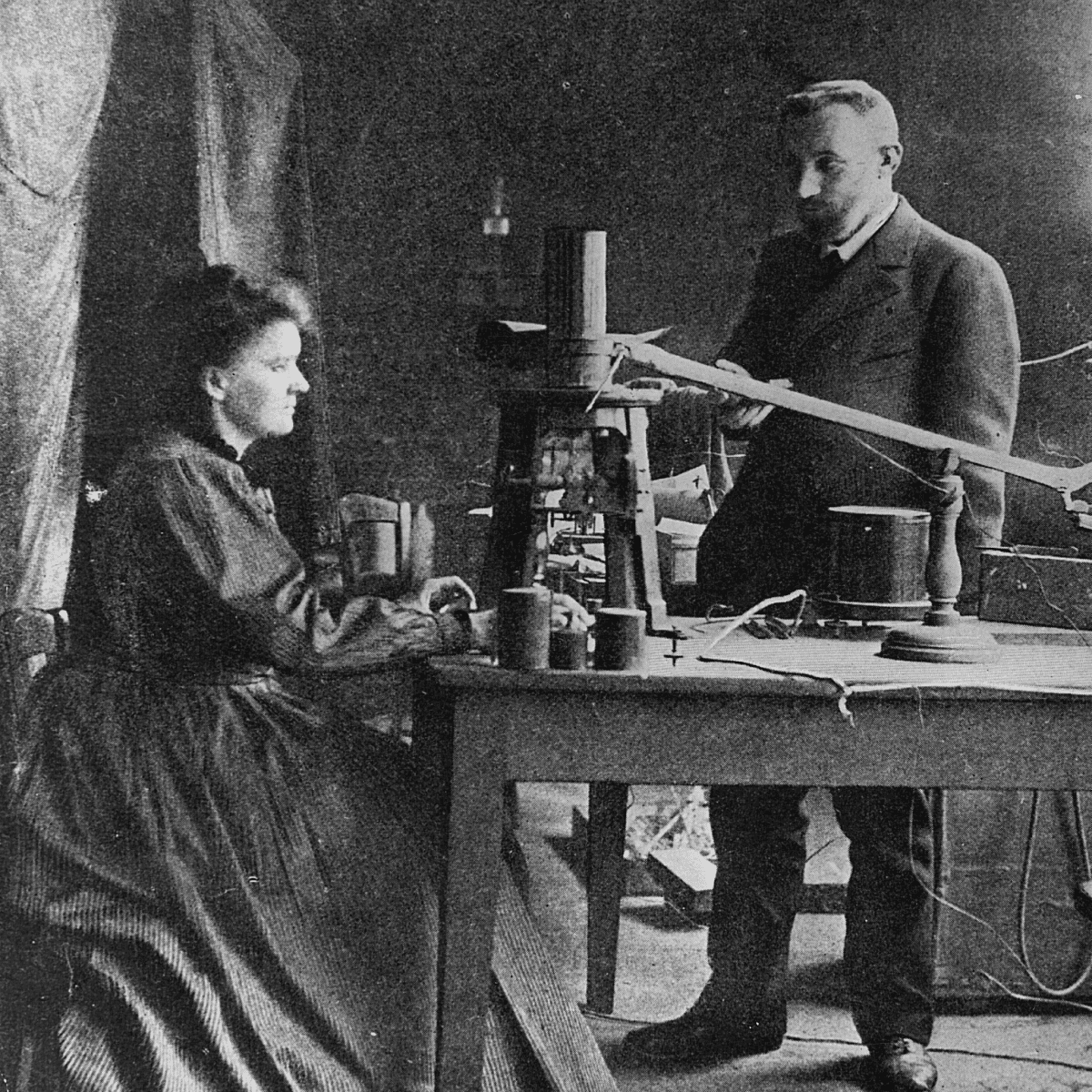 Marie Curie and Pierre Curie, 1902