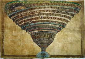 Illustration to the Divine Comedy by Dante Alighieri (Abyss of Hell), 1480-1490