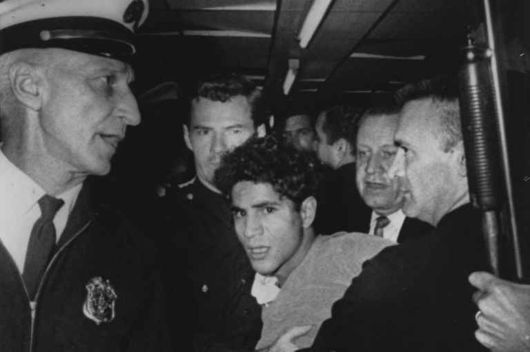 Sirhan Sirhan arrested at Ambassador Hotel Moments After Shooting Robert F. Kennedy on June 5 1968