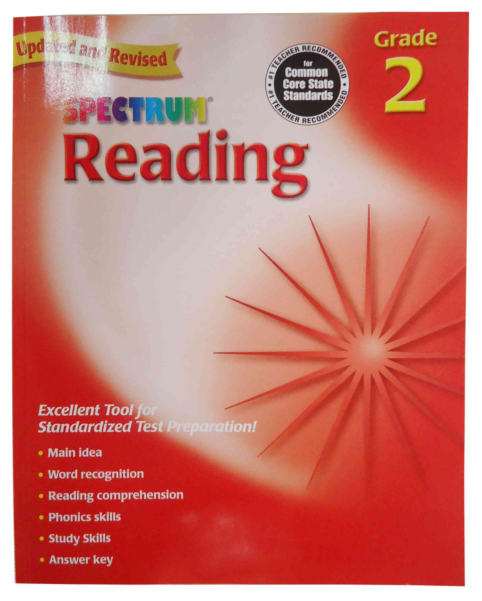 The cover of Spectrum Reading Grade 2 has an image of a star with 16 points