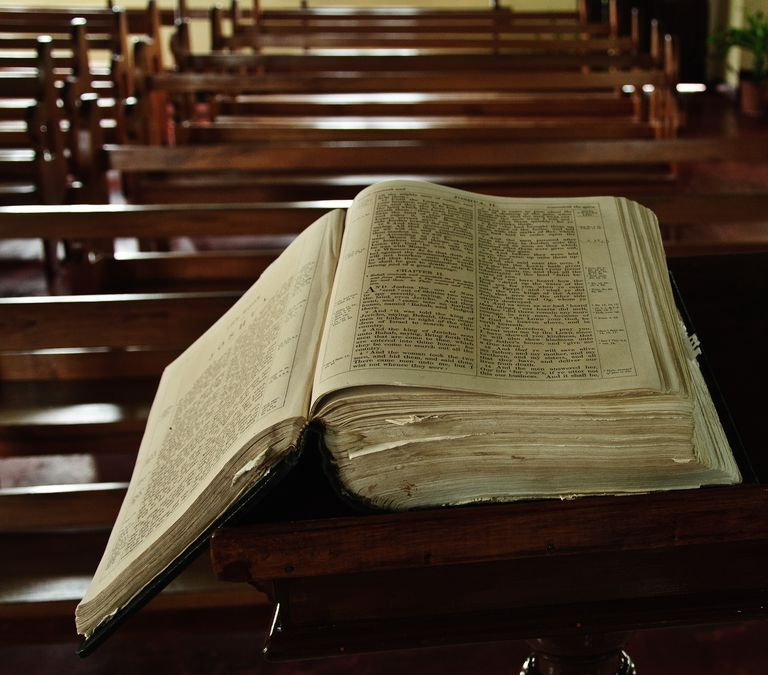Do you have the spiritual gift of healing high angle view of bible on pew at church negle Image collections