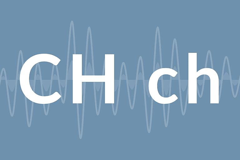 "The letters ""CH"""