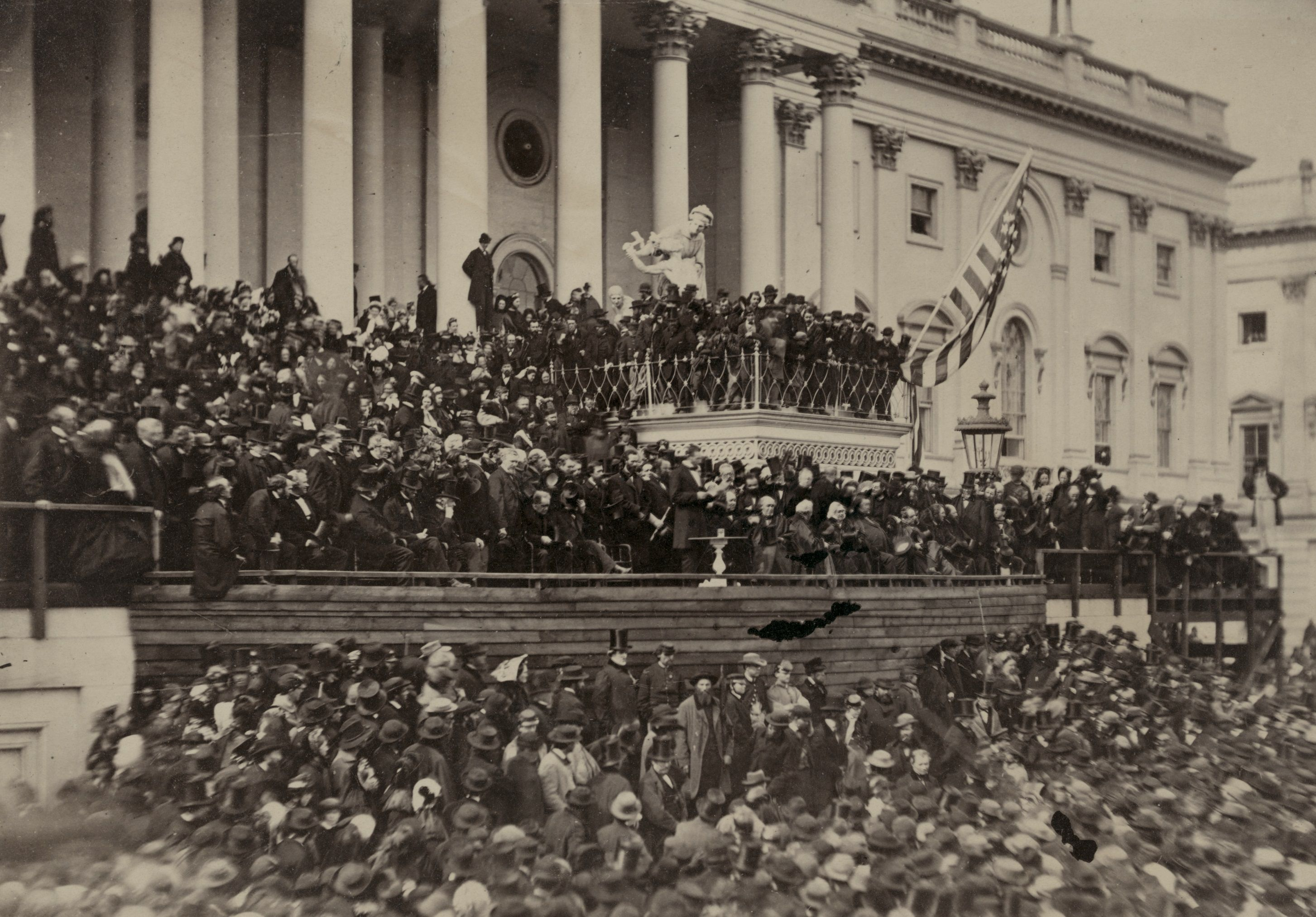 Photograph of Lincoln's second inaugural address by Alexander Gardner