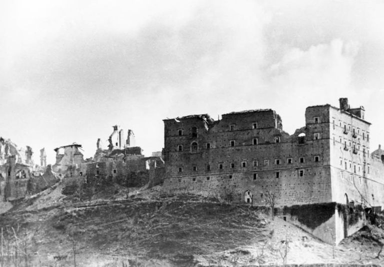 Monte Cassino Abbey after the bombing