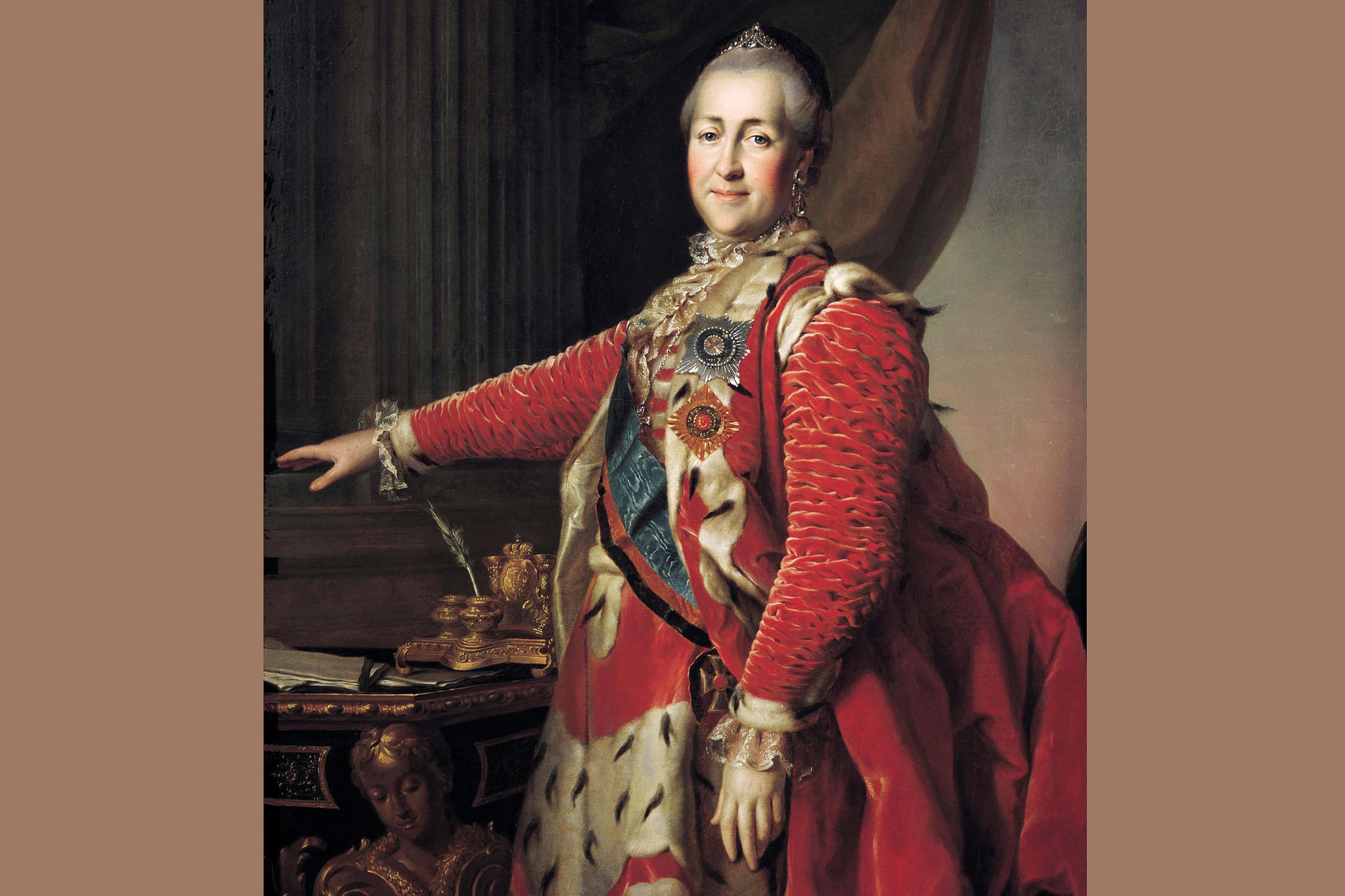 Catherine II, Empress of Russia, 1782 portrait by Dmitry Levitsky.