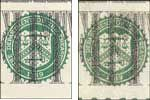 Comparison between genuine and counterfeit seal on American paper currency