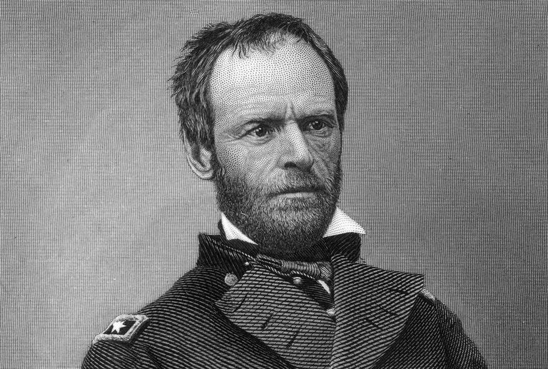 Engraved portrait of General William Tecumseh Sherman