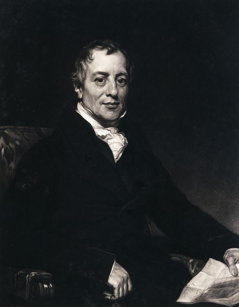 Portrait of David Ricardo (London, 1772-Gloucestershire, 1823), English economist