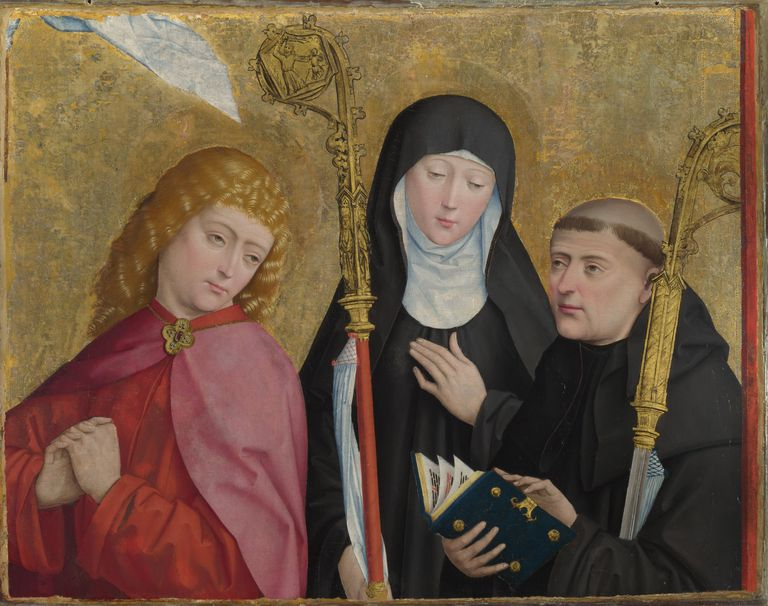Saints John the Evangelist, Scholastica and Benedict (The Liesborn Altarpiece), ca. 1470-1480. Artist: Master of Liesborn (15th century)