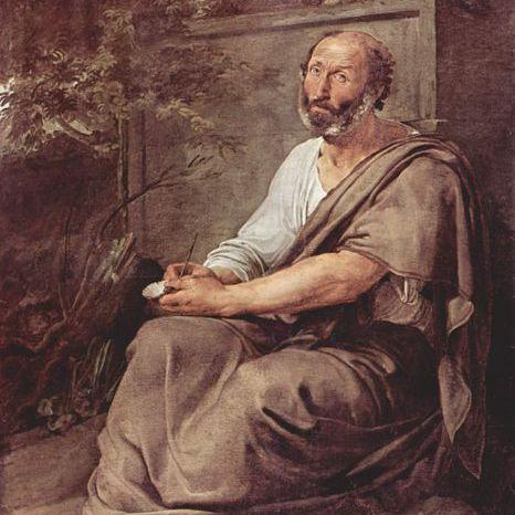 Aristotle painted by Francesco Hayez in 1811.