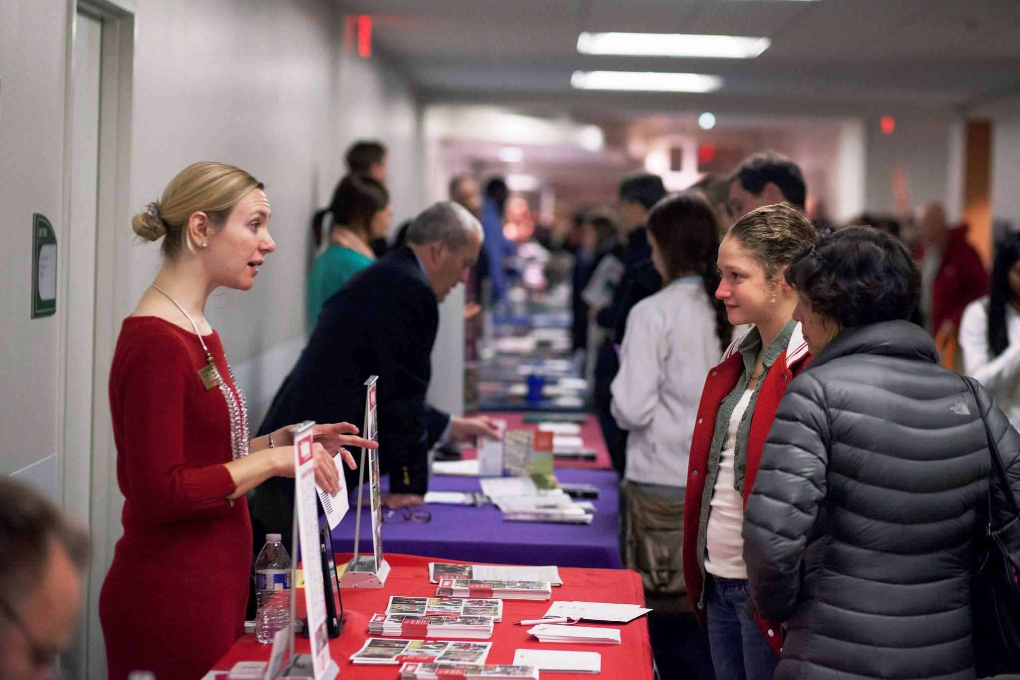 A college fair is useful for collecting information about multiple colleges.