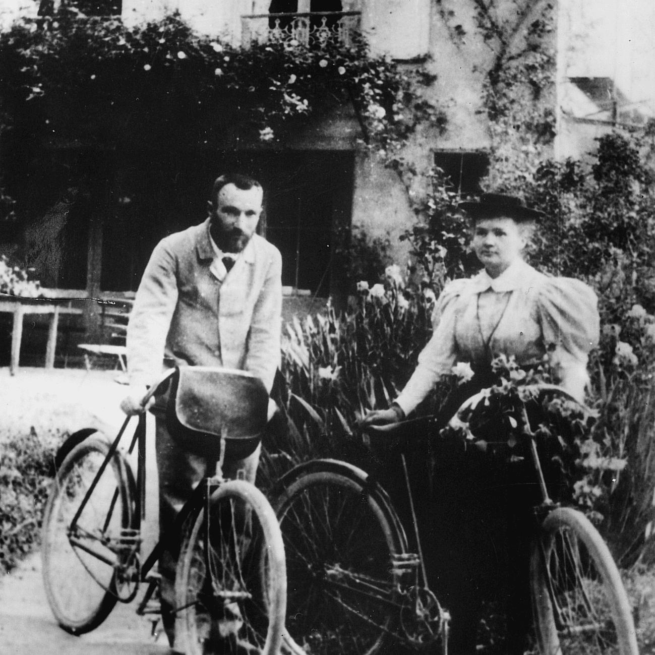 Marie and Pierre Curie Honeymoon 1895