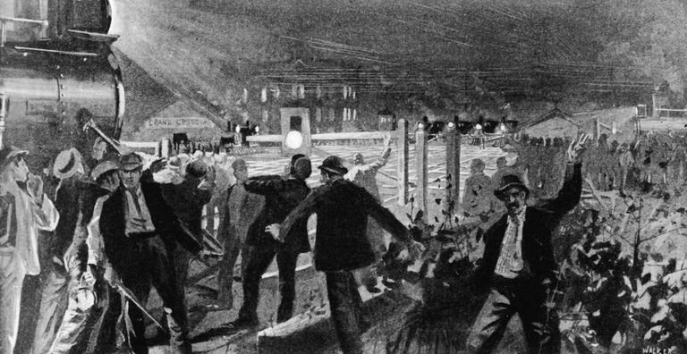Blockade At Grand Crossing During The Pullman Strike