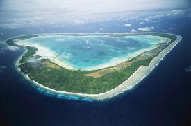 Aerial view of Marakei atoll