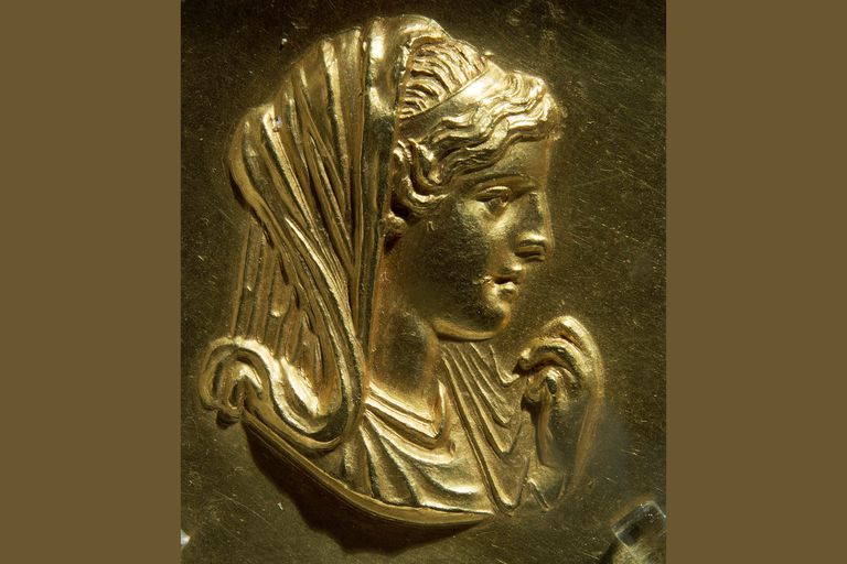 Medallion image thought to be of Olympias