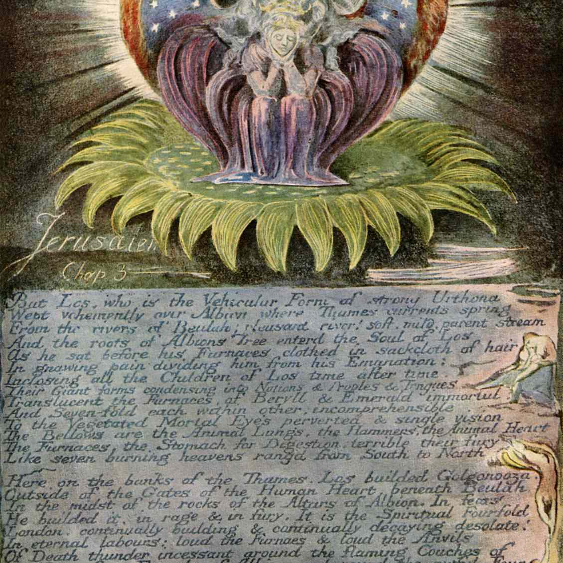 Beulah Throned on a Sun-Flower by William Blake