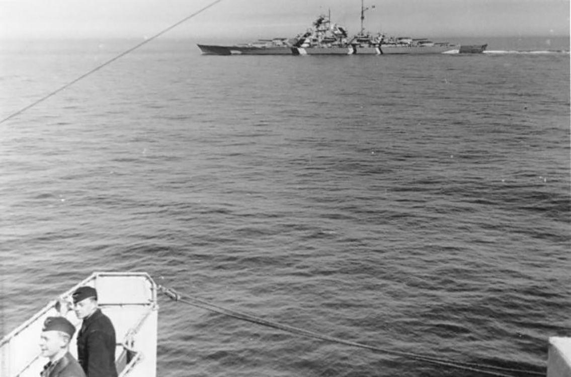 Bismarck in the Baltic Sea, 1941