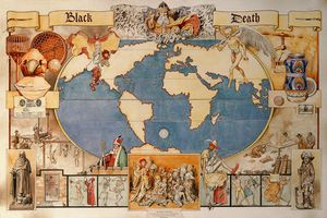 The Black Death map