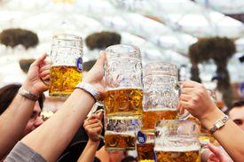 people toasting with German beer