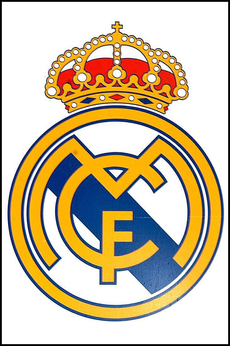 Official logo of the spanish football team, Real Madrid.