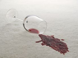 A Spilled Glass of Red Wine