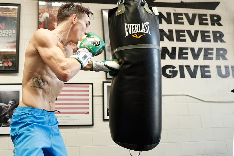 Michael Conlan and Alex Saucedo Media Workout