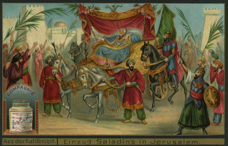 painting of Saladin's arrival in Jerusalem