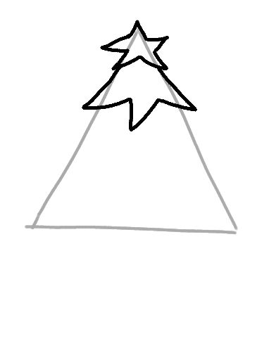 Continuing The Christmas Tree Drawing