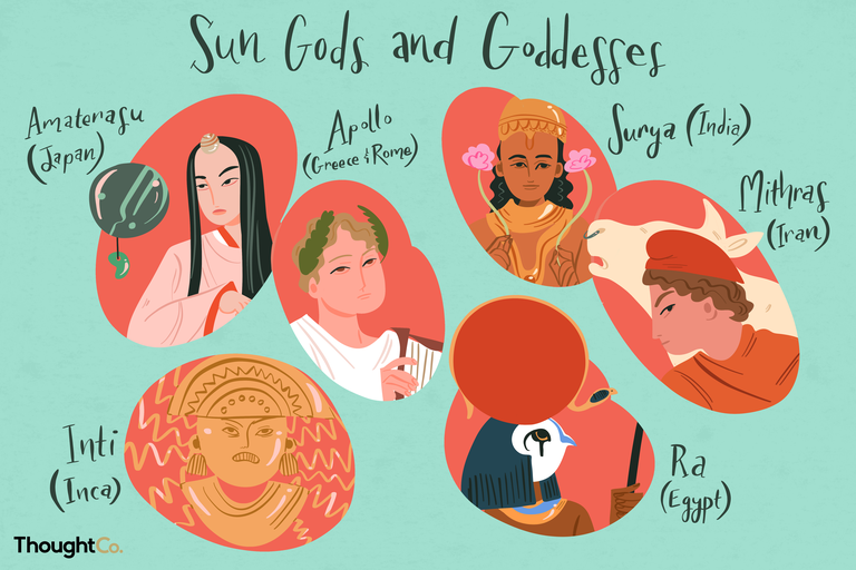Sun gods and goddesses from around the world