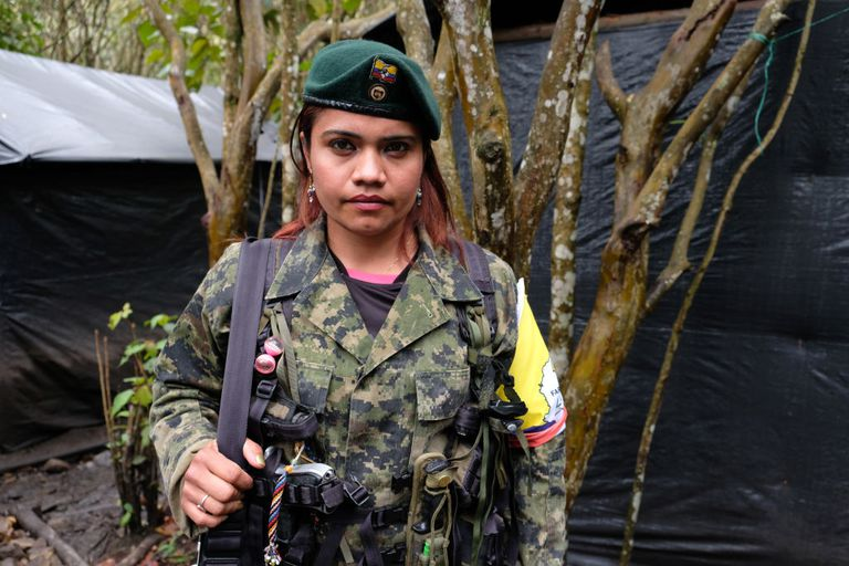 Female FARC fighter