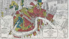 A redlining map of New Orleans
