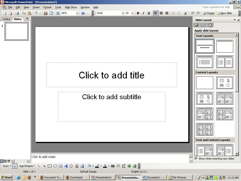 Screenshot of a PowerPoint page