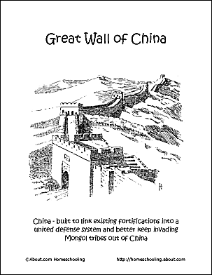 The Great Wall Coloring Page