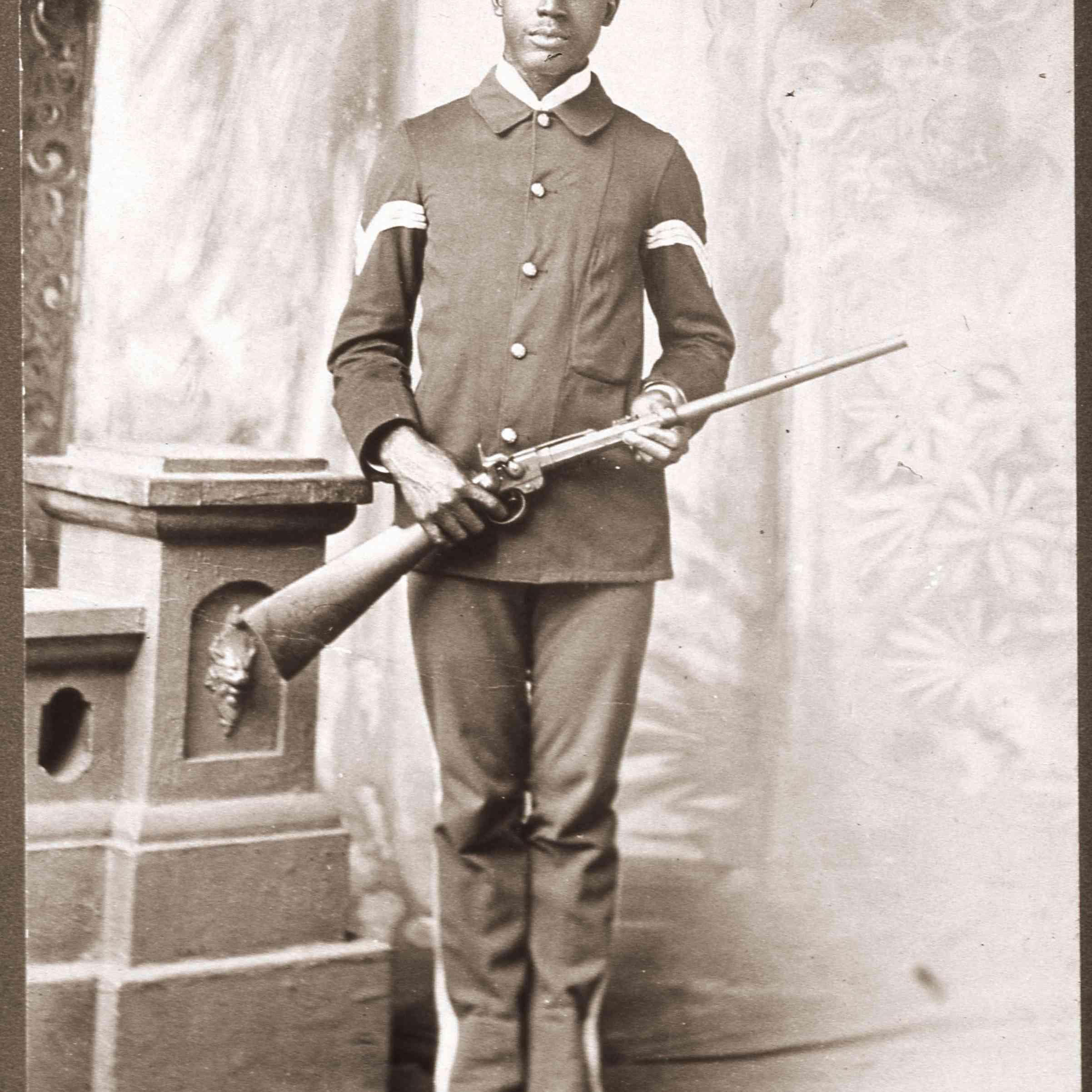 Portrait Of A Buffalo Soldier